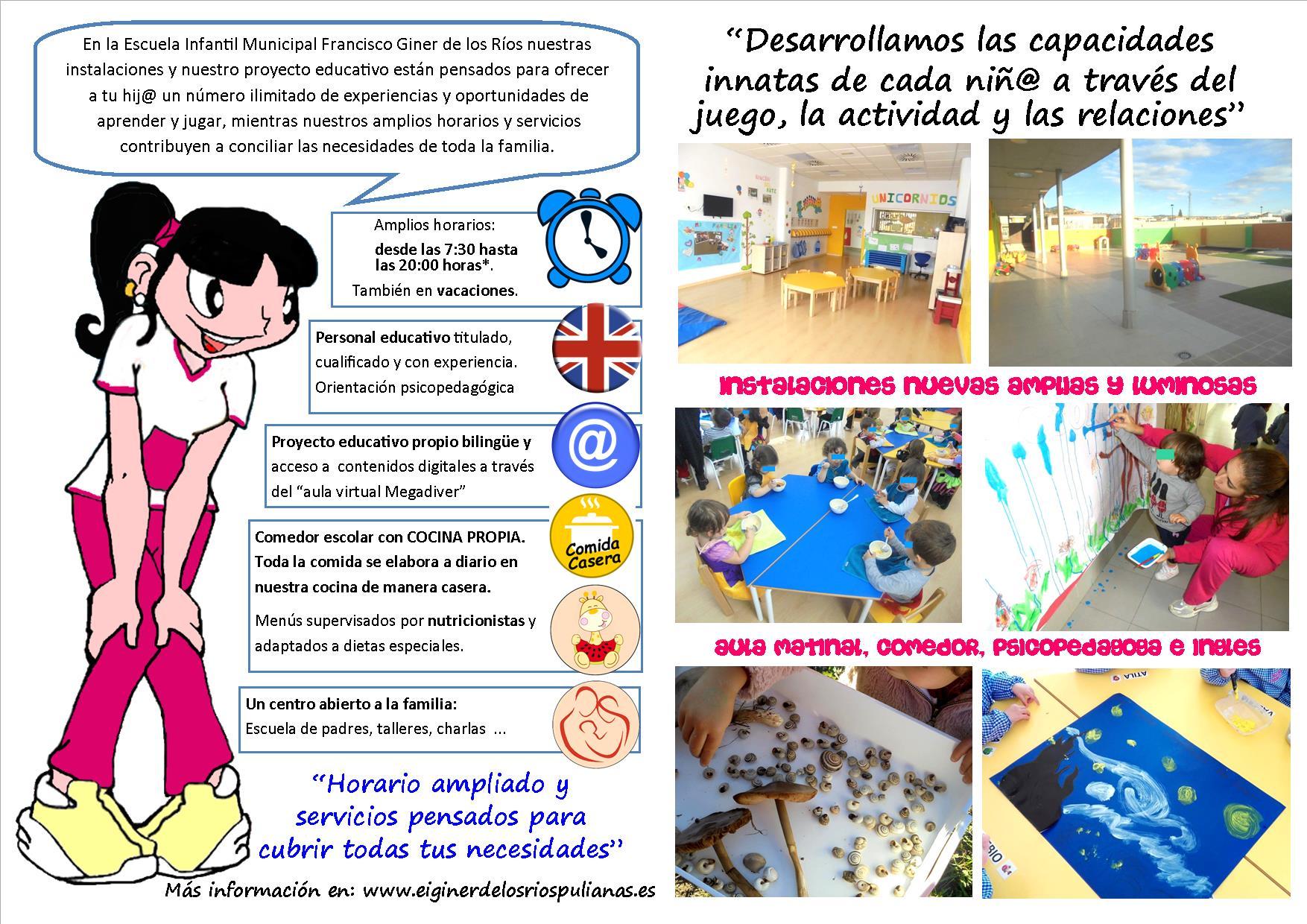 Servicios   Escuela Infantil Francisco Giner de los Ríos
